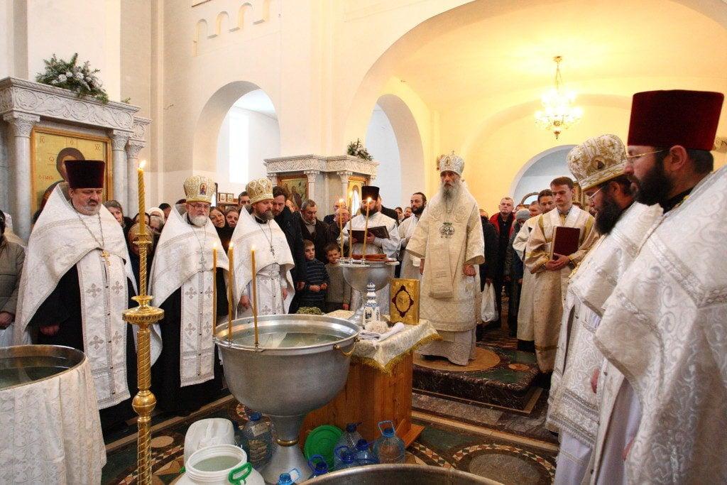 Велике освячення води напередодні свята Богоявлення у кафедральному соборі Тернопільської єпархії УПЦ (ФОТО
