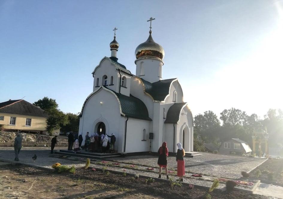 У селі Башуки відбувся чин освячення храму, побудованого замість відібраного розкольниками